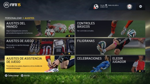 FIFA 15 (en los menús)