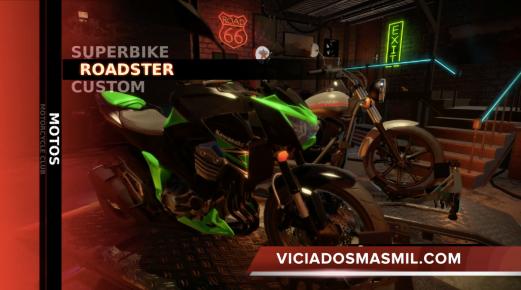 Podemos elegir entre Superbikes, Roadster o Custom